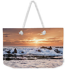 Weekender Tote Bag featuring the photograph Tidal Sunset by Heather Applegate