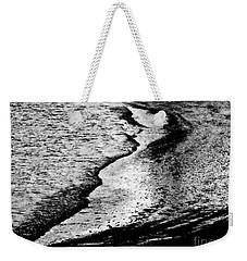 Tidal Wave Reaching For The Shoreline Weekender Tote Bag by Carol F Austin
