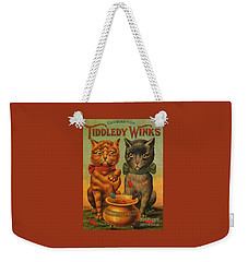 Tiddledy Winks Funny Victorian Cats Weekender Tote Bag by Peter Gumaer Ogden Collection