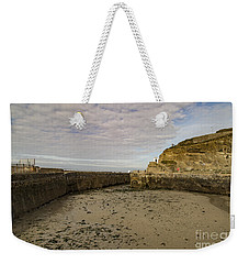Weekender Tote Bag featuring the photograph Tide Out Portreath by Brian Roscorla