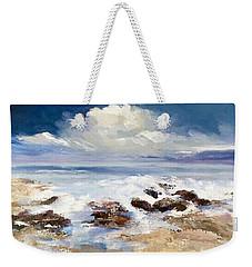 Weekender Tote Bag featuring the painting Tidepool by Helen Harris