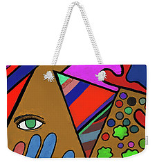 Tie Dye Abstract Weekender Tote Bag by David Jackson