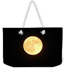 Tie Dyed Orange Moon Weekender Tote Bag