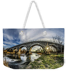 Tiffany Bridge Panorama Weekender Tote Bag by Randy Scherkenbach