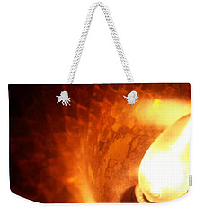Weekender Tote Bag featuring the photograph Tiffany Lamp Inside by Robert Knight