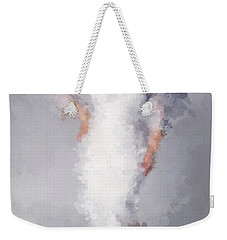 Weekender Tote Bag featuring the digital art Tiffany by Nancy Levan