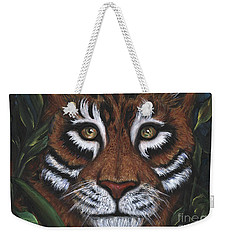 Weekender Tote Bag featuring the painting The Hunt by Alga Washington