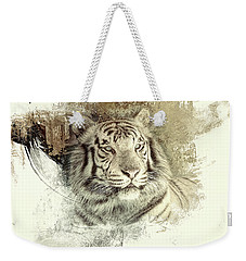 Tiger Weekender Tote Bag by Clare VanderVeen