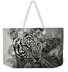 Tiger Head Monochrome Weekender Tote Bag