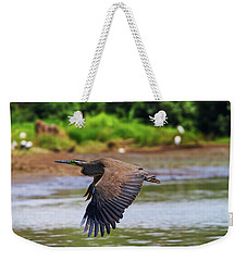 Weekender Tote Bag featuring the photograph Tiger Heron by Arthur Dodd