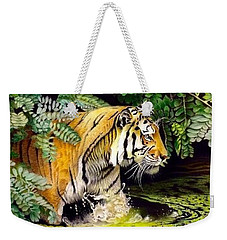 Tiger In The Dundurban Delta Weekender Tote Bag