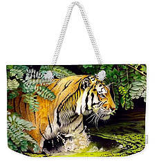Tiger In The Sunderban Delta Weekender Tote Bag