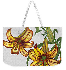 Tiger Lily Blossom  Weekender Tote Bag by Walter Colvin