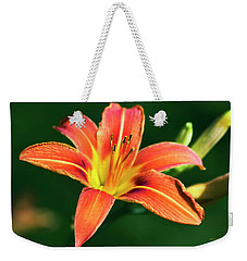 Weekender Tote Bag featuring the photograph Tiger Lily by Christina Rollo
