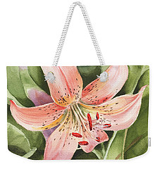Tiger Lily Watercolor By Irina Sztukowski Weekender Tote Bag