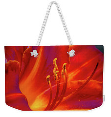 Tiger Lily Weekender Tote Bag by Mark Dunton