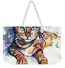 Tiger Weekender Tote Bag by Melinda Dare Benfield