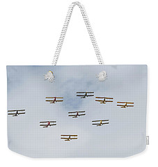 Weekender Tote Bag featuring the photograph Tiger Moth Formation by Gary Eason