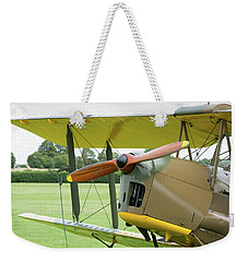 Weekender Tote Bag featuring the photograph Tiger Moth Propeller by Gary Eason