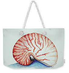 Tiger Nautilus Seashell Weekender Tote Bag