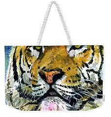 Tiger Portrait Weekender Tote Bag by John D Benson
