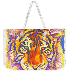 Weekender Tote Bag featuring the painting Tiger by Stephen Anderson