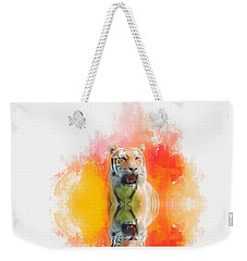 Tiger Sunset Weekender Tote Bag by Suzanne Handel