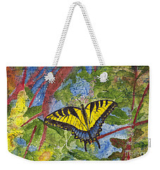 Tiger Swallowtail Watercolor Batik On Rice Paper Weekender Tote Bag