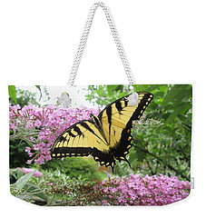 Weekender Tote Bag featuring the photograph Tiger Swallowtail by Bill OConnor