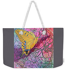 Tiger Swallowtail Weekender Tote Bag by Nancy Jolley