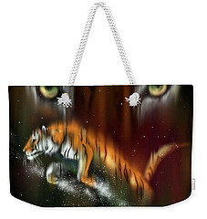 Tiger, Tiger Burning Bright Weekender Tote Bag