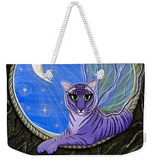 Tigerpixie Purple Tiger Fairy Weekender Tote Bag