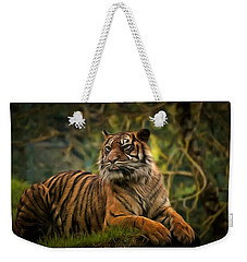 Weekender Tote Bag featuring the photograph Tigers Beauty by Scott Carruthers