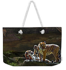 Tigers In The Night Weekender Tote Bag