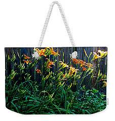 Weekender Tote Bag featuring the photograph Tigers by Nancy Kane Chapman