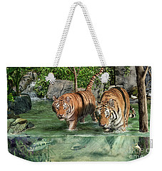 Tiger's Water Park Weekender Tote Bag