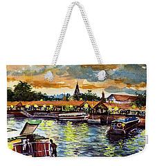 Weekender Tote Bag featuring the painting Tigre Delta 001 by Bernardo Galmarini
