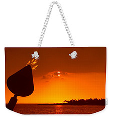 Tiki Lights In Kona Weekender Tote Bag by Athala Carole Bruckner