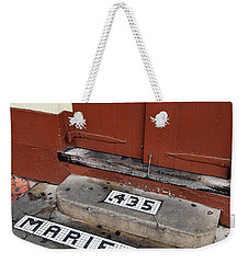 Tile Inlay Steps Marie Jean 435 Wooden Door French Quarter New Orleans Weekender Tote Bag