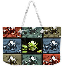 Tiled Water Lillies Weekender Tote Bag