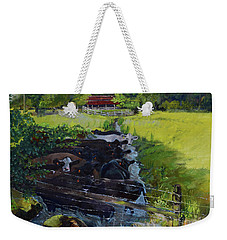 Weekender Tote Bag featuring the painting Till The Cows Come Home by Jan Dappen