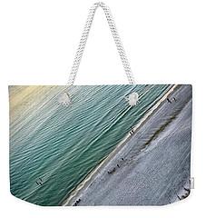 Tilted Rule Of Thirds Beach Sunset Weekender Tote Bag by Walt Foegelle