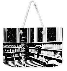 Weekender Tote Bag featuring the digital art Time Aerials Mind Library by Russell Kightley