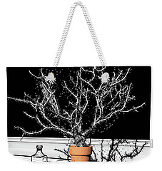 Weekender Tote Bag featuring the digital art Time Aerials Time Aerials In A Pot by Russell Kightley