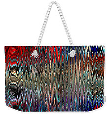 Weekender Tote Bag featuring the photograph Time And Space Threads by Kellice Swaggerty