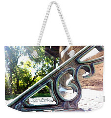 Weekender Tote Bag featuring the photograph Time At An Angle by Robert Knight