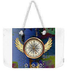 Weekender Tote Bag featuring the mixed media Time Flies by Marvin Blaine