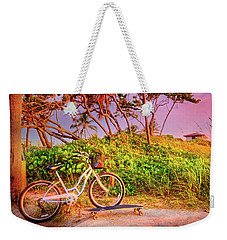 Weekender Tote Bag featuring the photograph Time For Beach Fun by Debra and Dave Vanderlaan