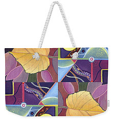 Time Goes By - The Joy Of Design Series Arrangement Weekender Tote Bag by Helena Tiainen