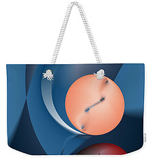 Time Is A Peculiar Game Weekender Tote Bag by Leo Symon